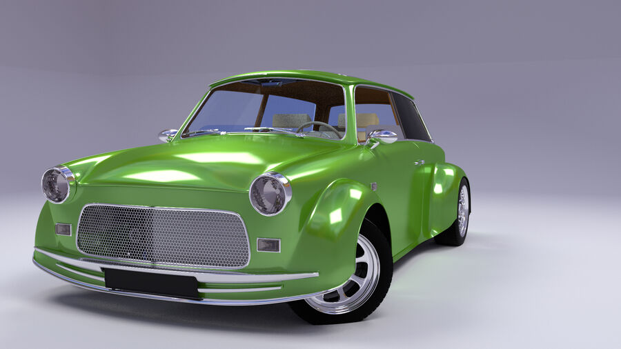 Custom car royalty-free 3d model - Preview no. 13