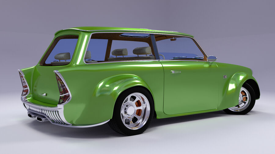 Custom car royalty-free 3d model - Preview no. 11