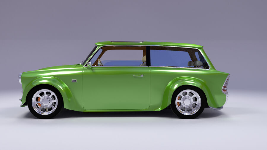 Custom car royalty-free 3d model - Preview no. 14