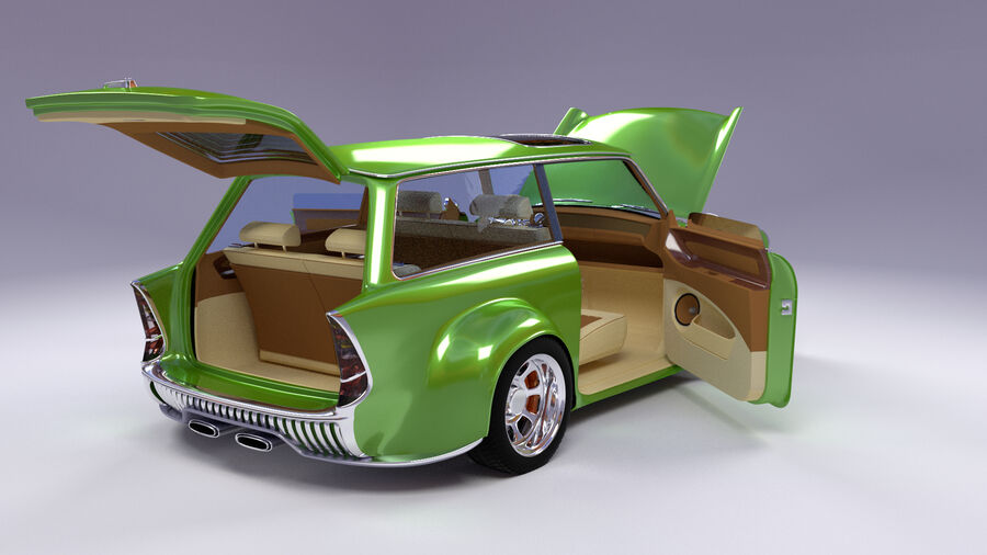 Custom car royalty-free 3d model - Preview no. 3