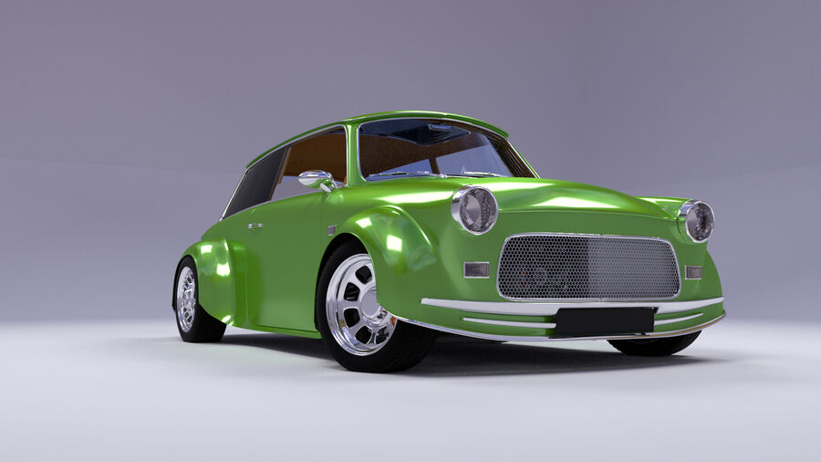 Custom car royalty-free 3d model - Preview no. 4