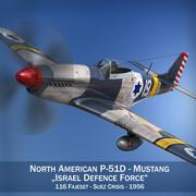 Североамериканский P-51D Mustang - Силы обороны Израиля 3d model