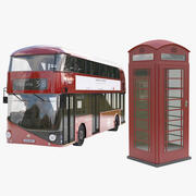 NB4L and Red Phone Booth 3d model