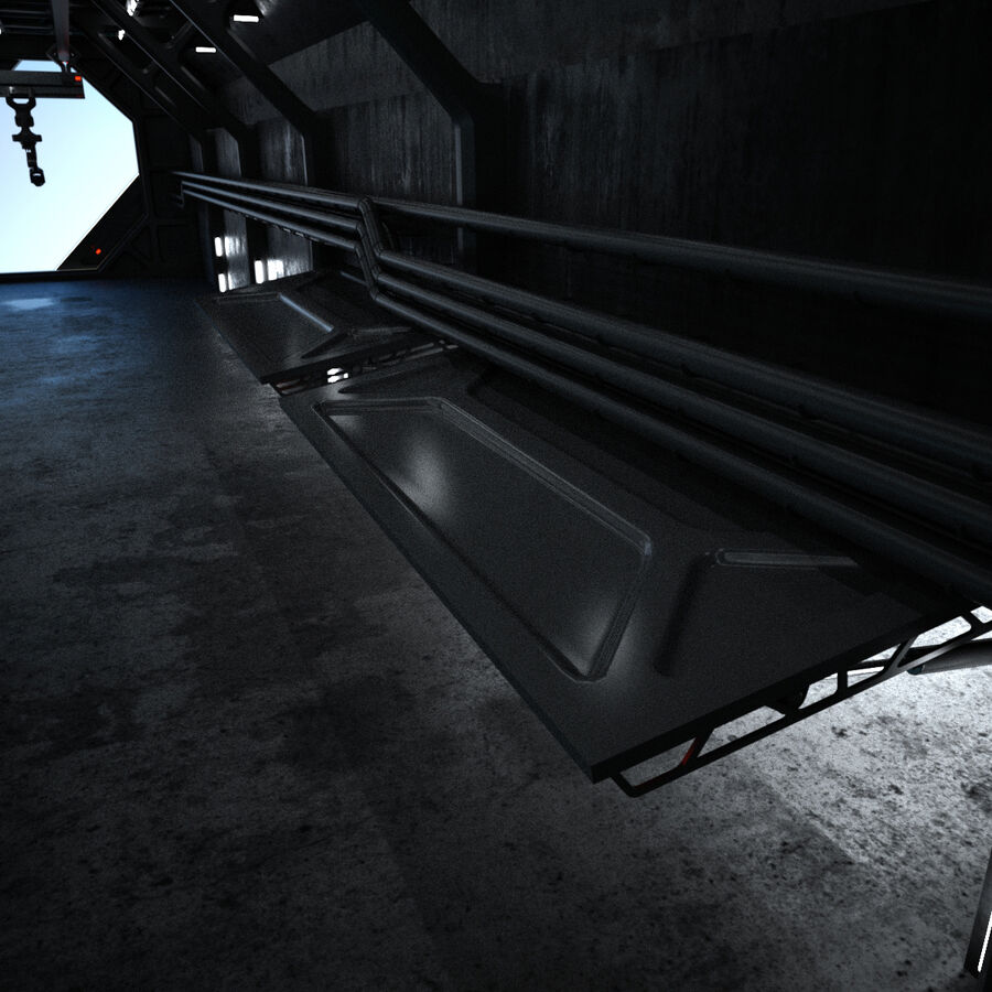 Hangar Sci Fi royalty-free 3d model - Preview no. 27