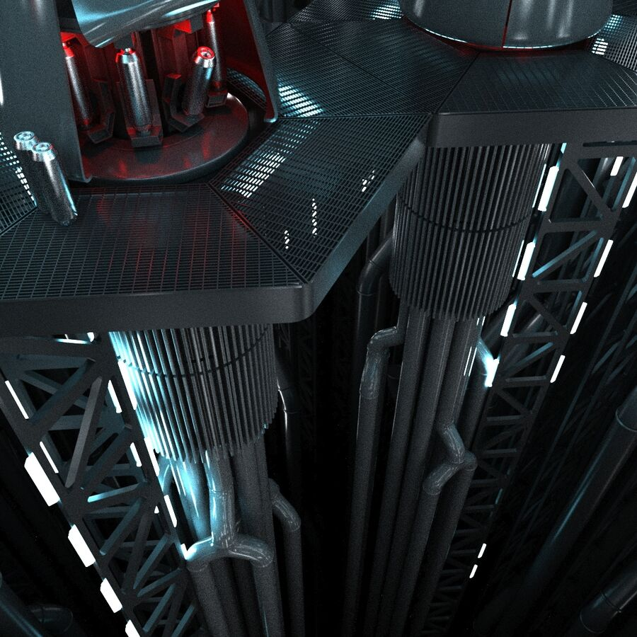 Hangar Sci Fi royalty-free 3d model - Preview no. 11