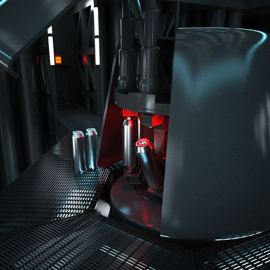 Hangar Sci Fi royalty-free 3d model - Preview no. 10