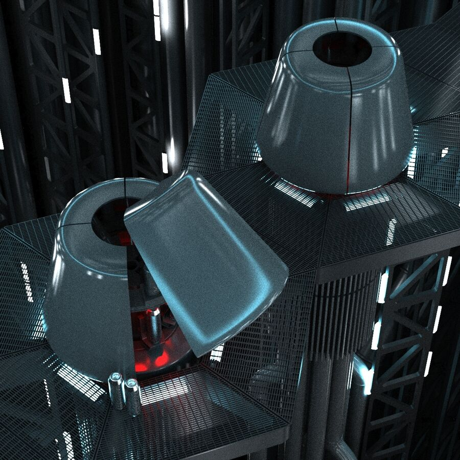 Hangar Sci Fi royalty-free 3d model - Preview no. 5