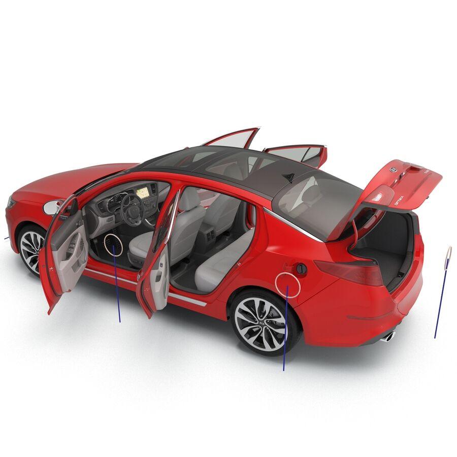 Kia Optima 2014 2 manipuliert royalty-free 3d model - Preview no. 12