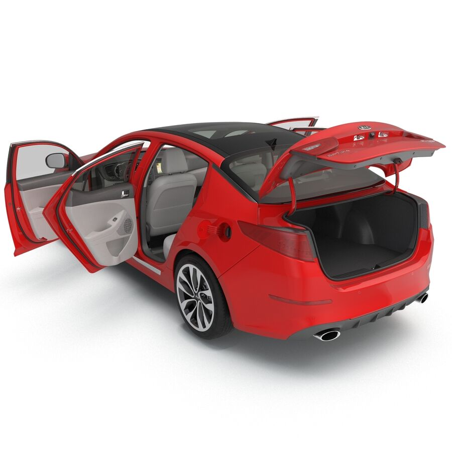 Kia Optima 2014 2 manipuliert royalty-free 3d model - Preview no. 51