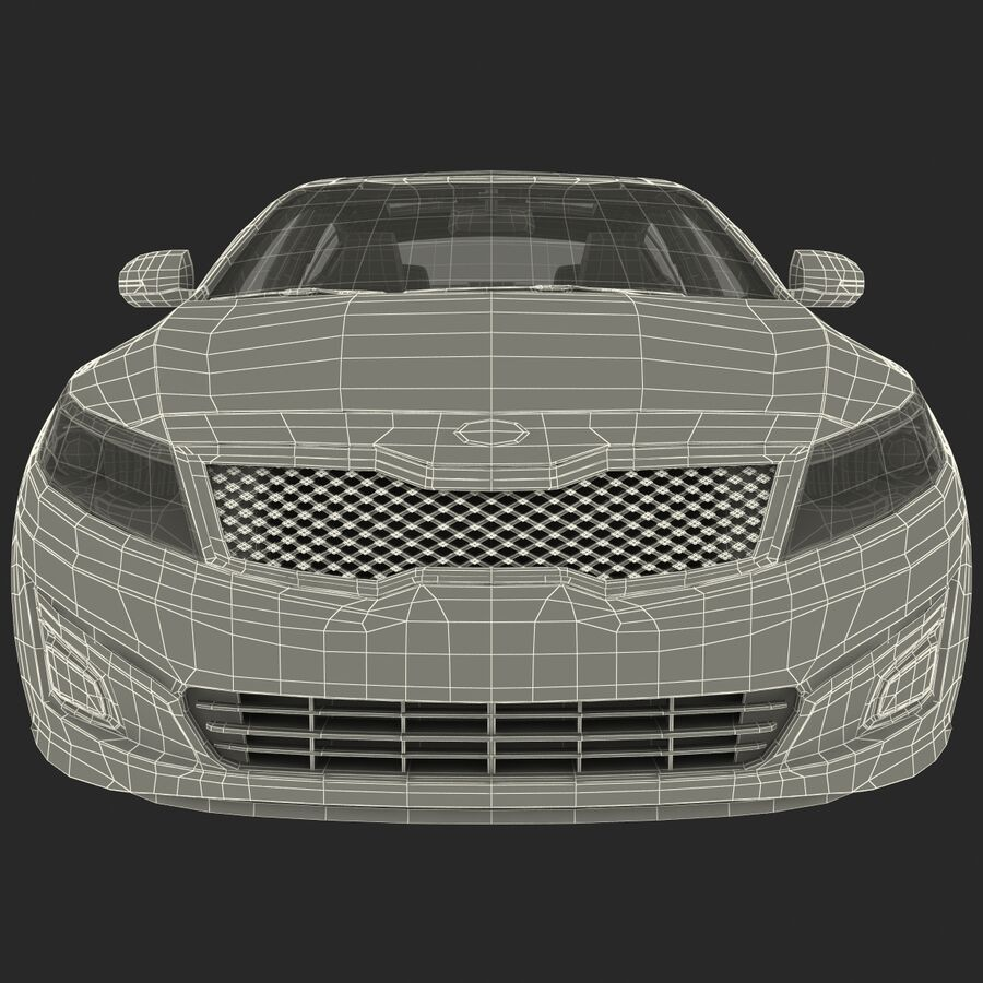 Kia Optima 2014 2 manipuliert royalty-free 3d model - Preview no. 93
