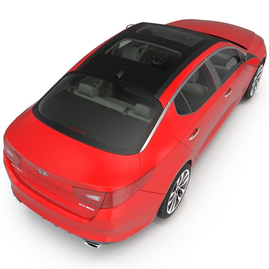 Kia Optima 2014 2 manipuliert royalty-free 3d model - Preview no. 46