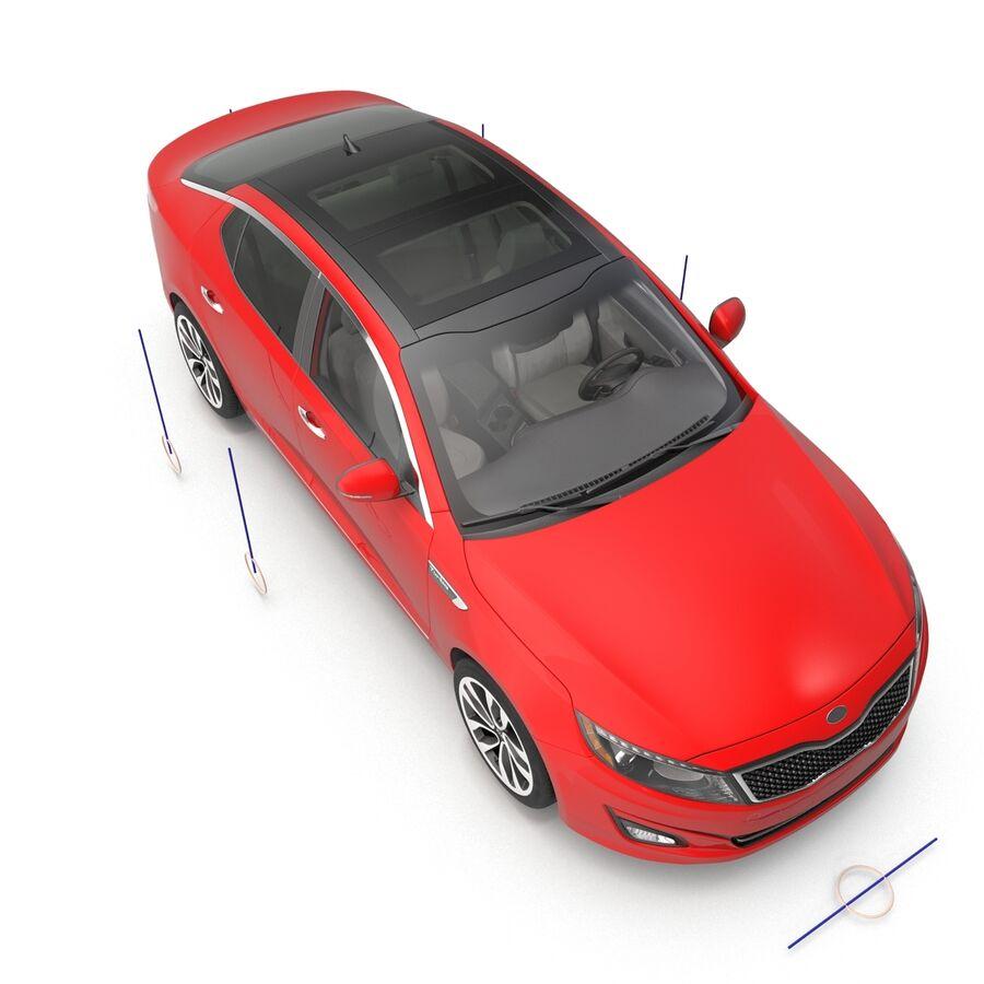 Kia Optima 2014 2 manipuliert royalty-free 3d model - Preview no. 5