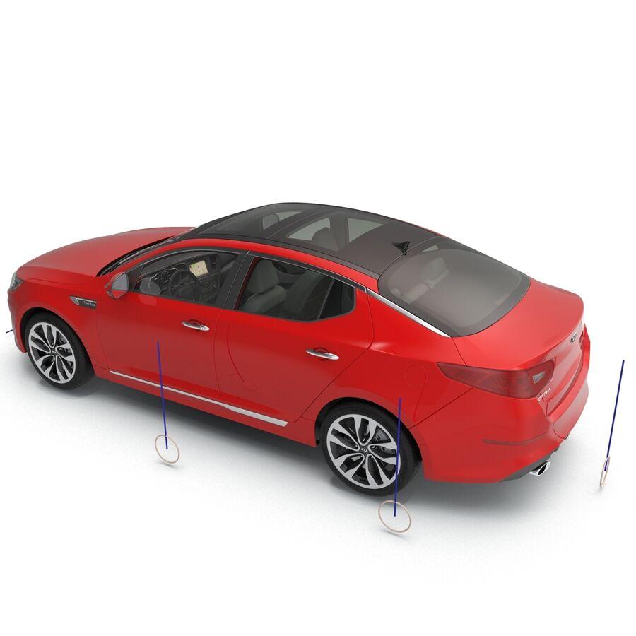 Kia Optima 2014 2 manipuliert royalty-free 3d model - Preview no. 11