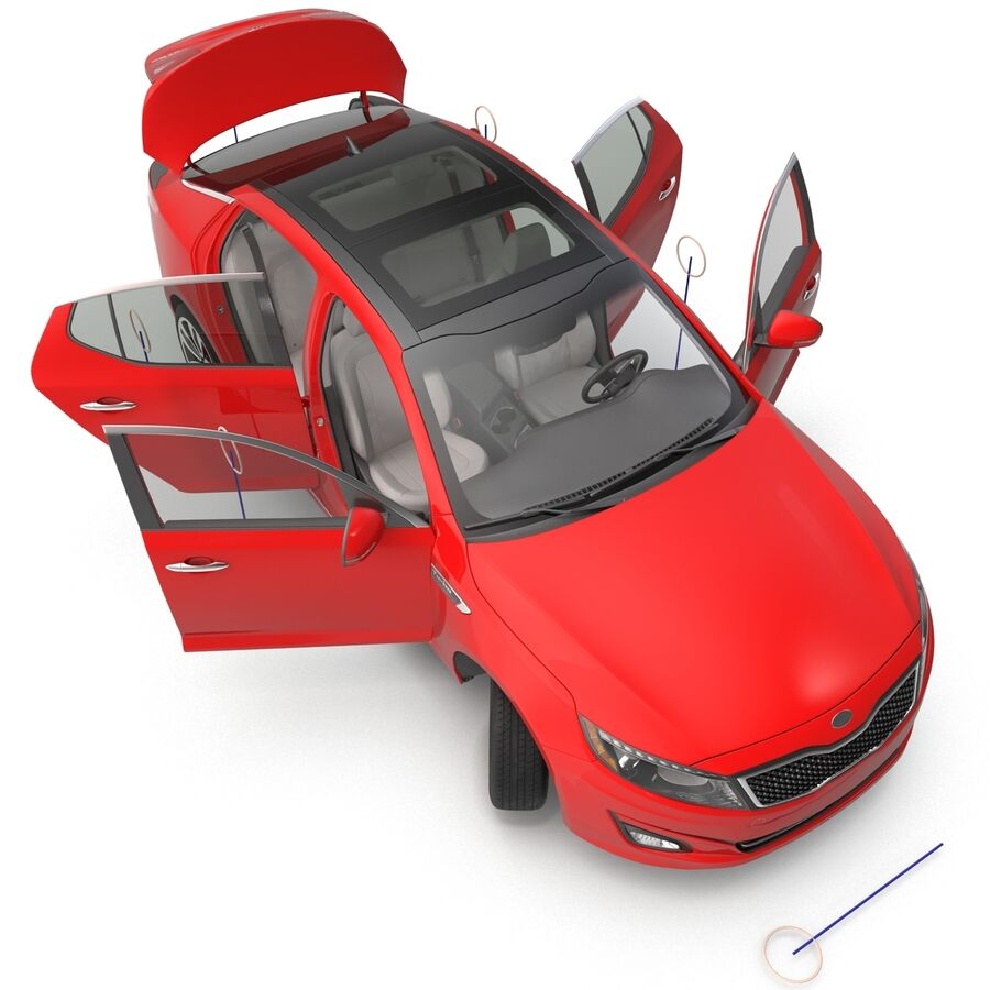Kia Optima 2014 2 manipuliert royalty-free 3d model - Preview no. 6