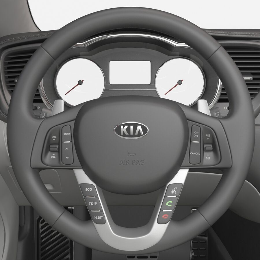 Kia Optima 2014 2 manipuliert royalty-free 3d model - Preview no. 86