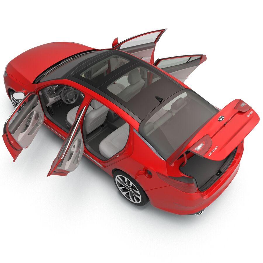 Kia Optima 2014 2 manipuliert royalty-free 3d model - Preview no. 53