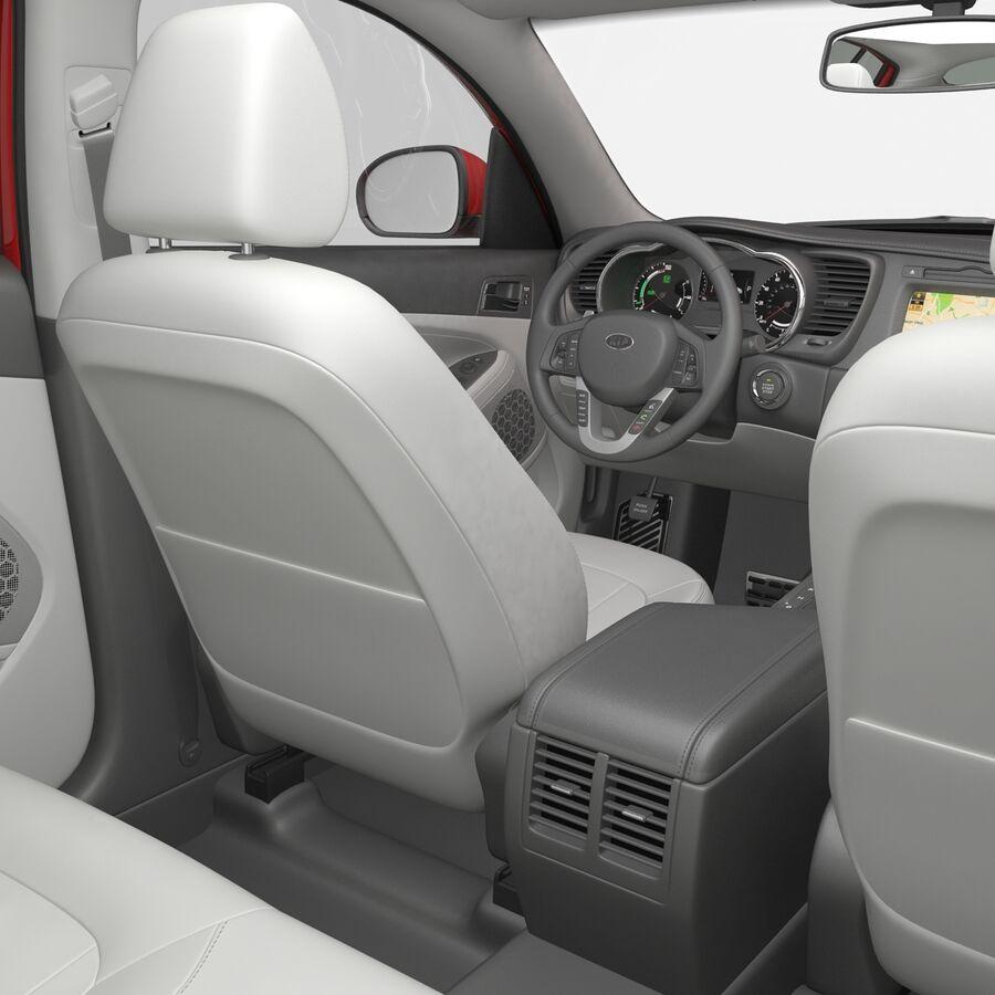 Kia Optima 2014 2 manipuliert royalty-free 3d model - Preview no. 90