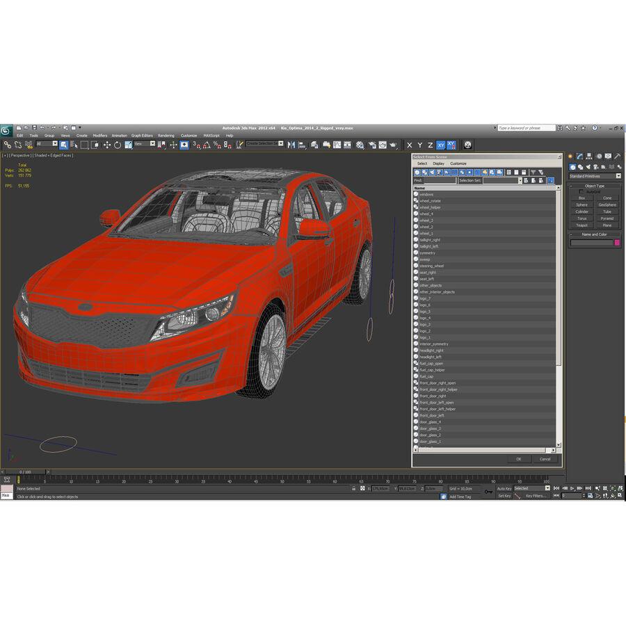 Kia Optima 2014 2 manipuliert royalty-free 3d model - Preview no. 128