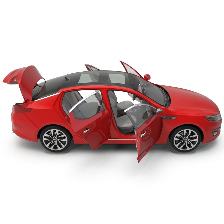 Kia Optima 2014 2 manipuliert royalty-free 3d model - Preview no. 20