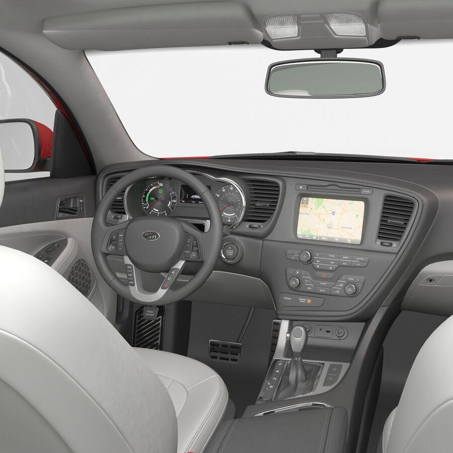 Kia Optima 2014 2 manipuliert royalty-free 3d model - Preview no. 82