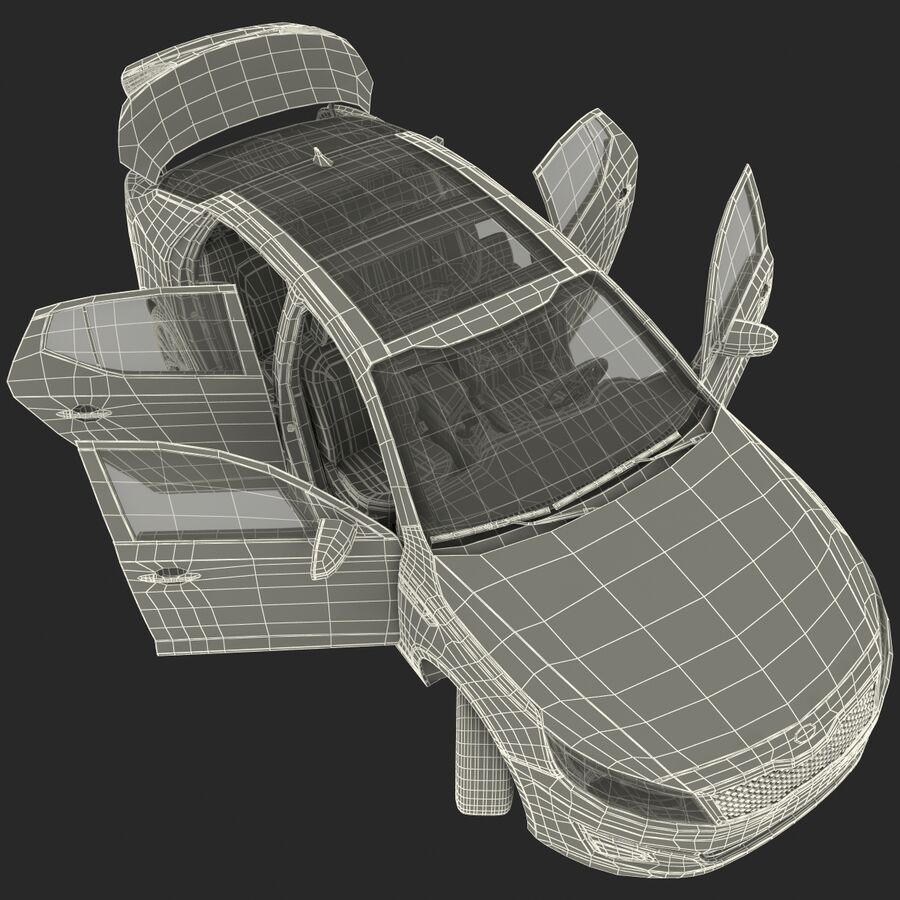 Kia Optima 2014 2 manipuliert royalty-free 3d model - Preview no. 104