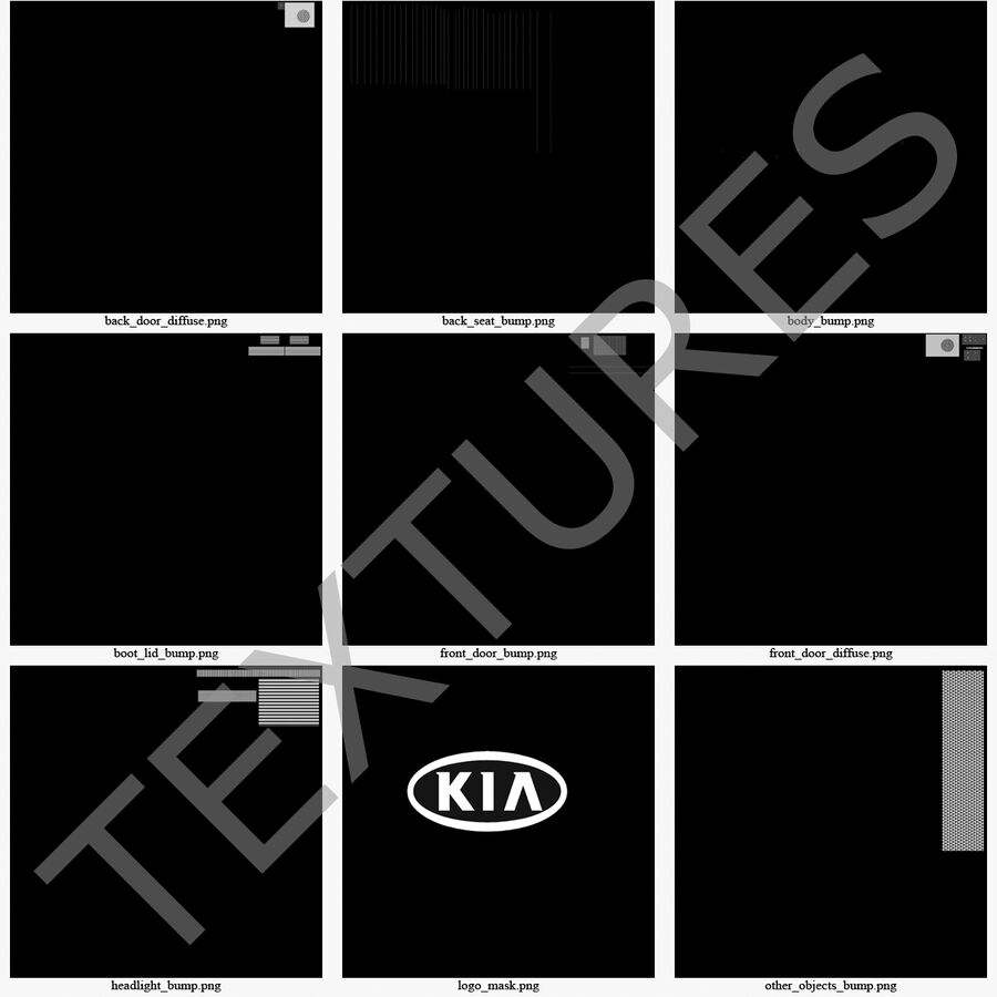 Kia Optima 2014 2 manipuliert royalty-free 3d model - Preview no. 126