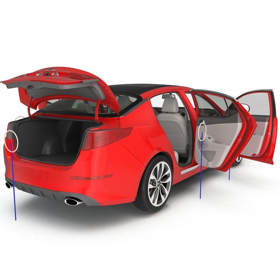 Kia Optima 2014 2 manipuliert royalty-free 3d model - Preview no. 8