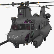 MH 47 Chinook Rigged (1) 3d model