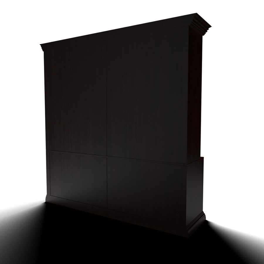 Bookshelf With Books royalty-free 3d model - Preview no. 5