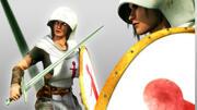 산티아고 소녀 전사 XIII 세기 3d model