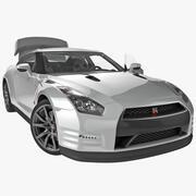 Nissan GTR 2014 Rigged 3d model