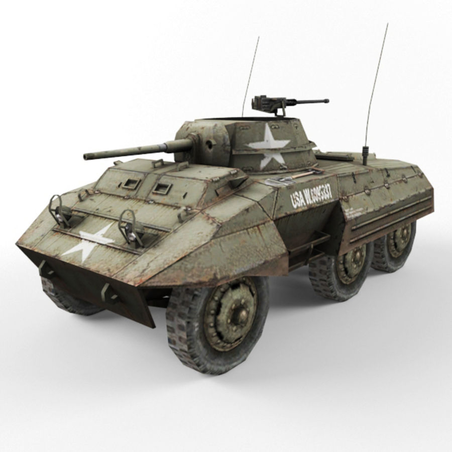 M8 Greyhound royalty-free 3d model - Preview no. 1