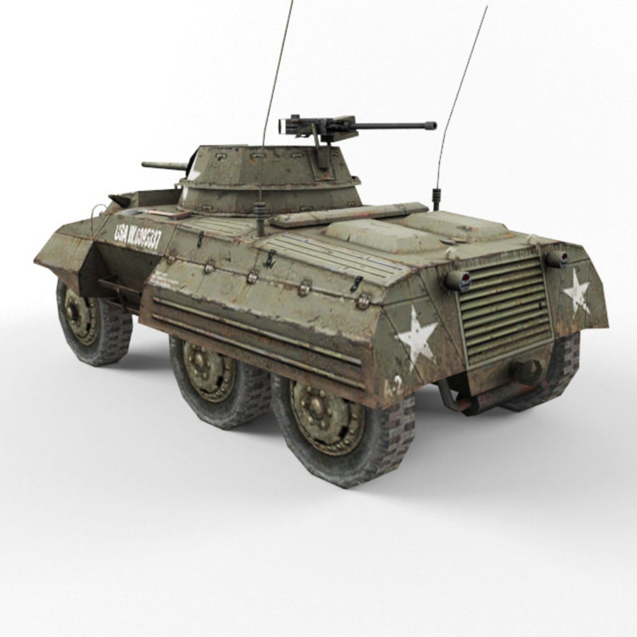 M8 Greyhound royalty-free 3d model - Preview no. 3