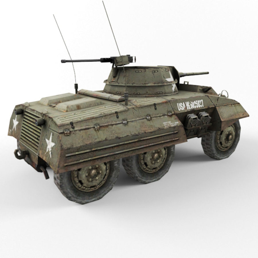 M8 Greyhound royalty-free 3d model - Preview no. 5