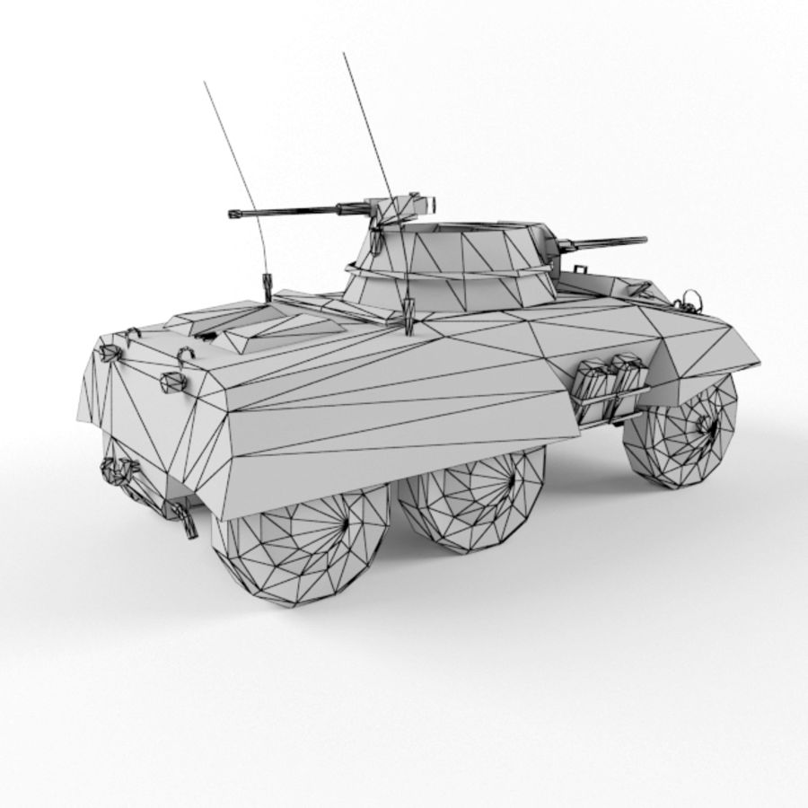 M8 Greyhound royalty-free 3d model - Preview no. 10