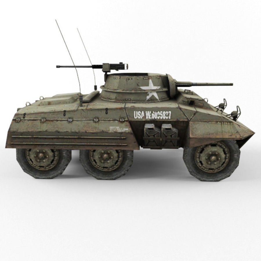 M8 Greyhound royalty-free 3d model - Preview no. 6