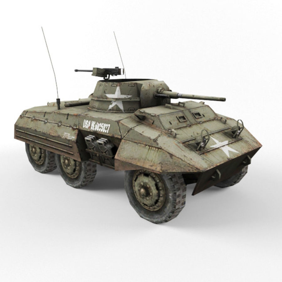 M8 Greyhound royalty-free 3d model - Preview no. 7