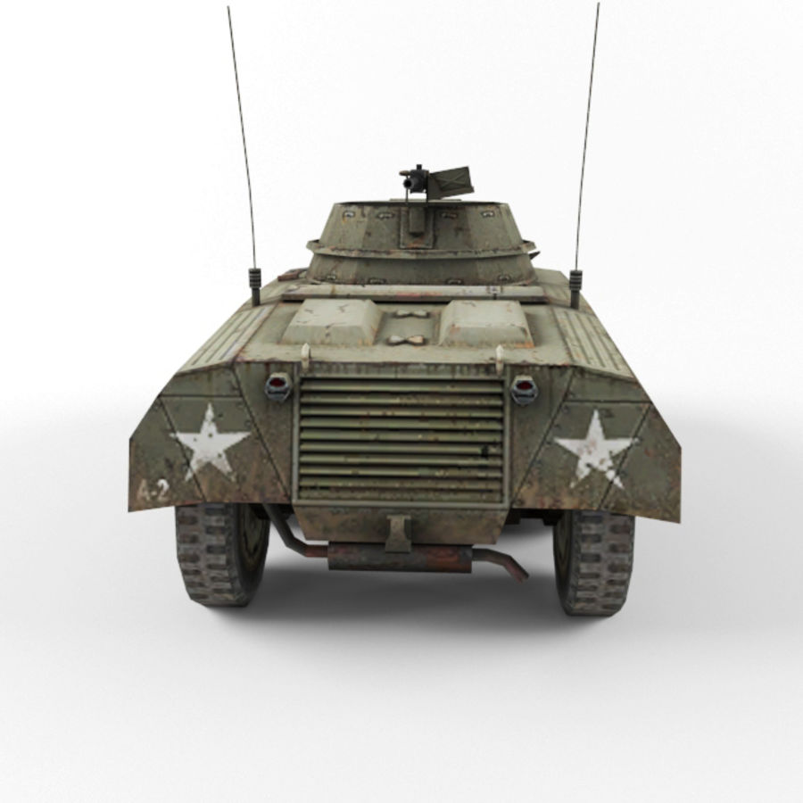 M8 Greyhound royalty-free 3d model - Preview no. 4