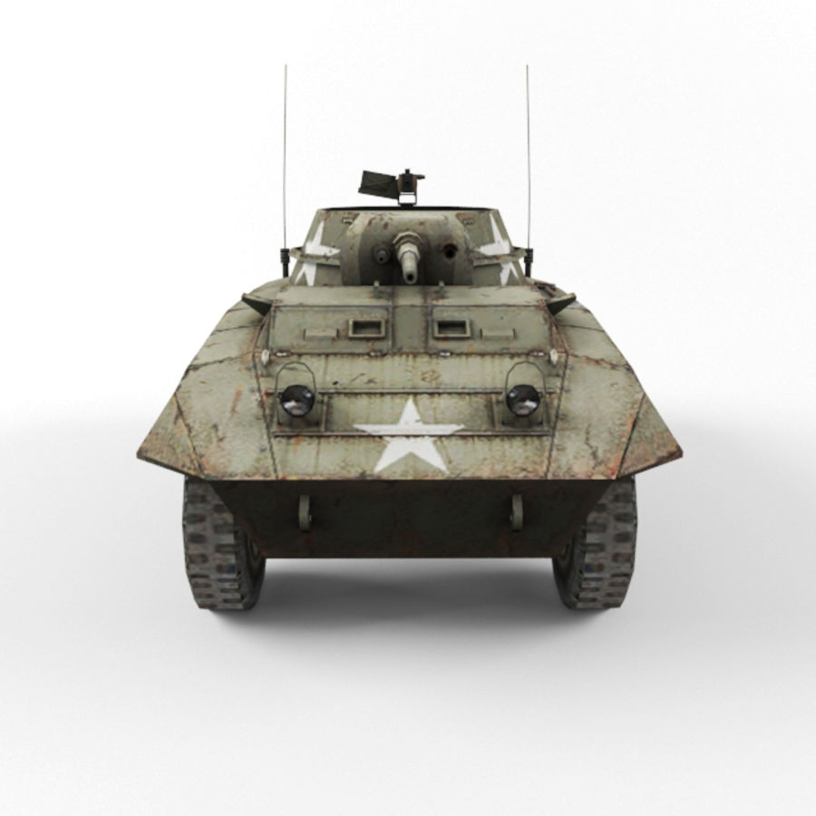 M8 Greyhound royalty-free 3d model - Preview no. 8