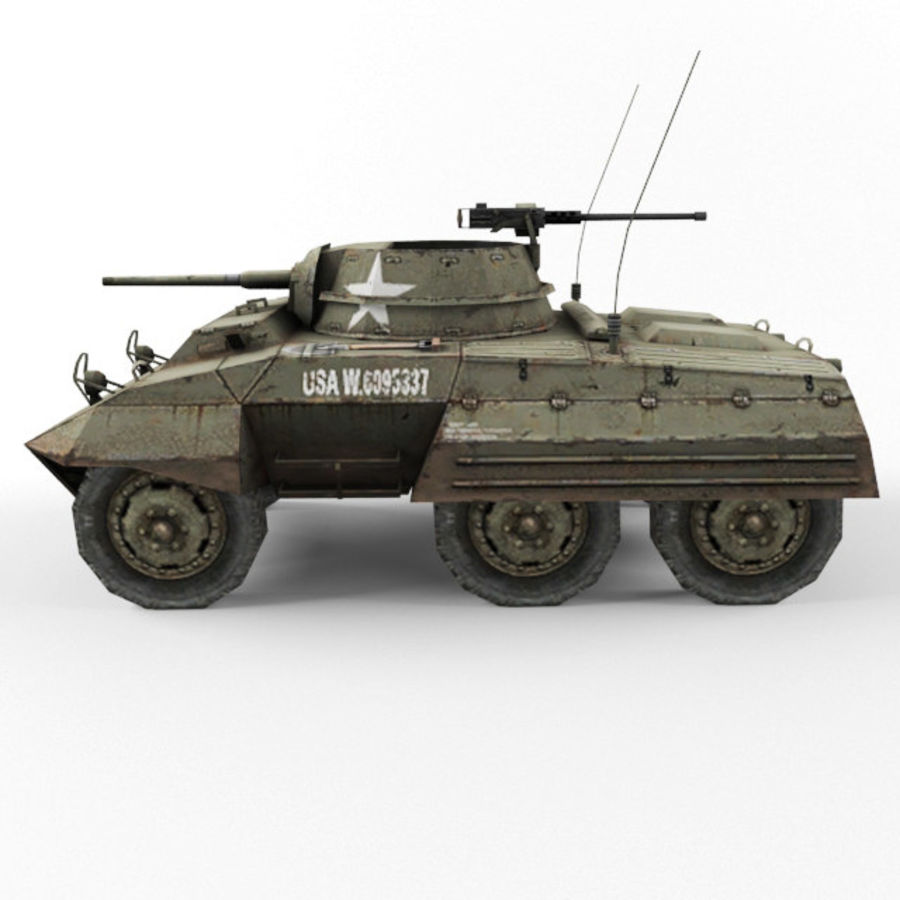 M8 Greyhound royalty-free 3d model - Preview no. 2