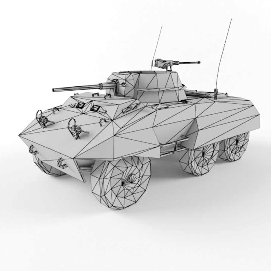 M8 Greyhound royalty-free 3d model - Preview no. 9