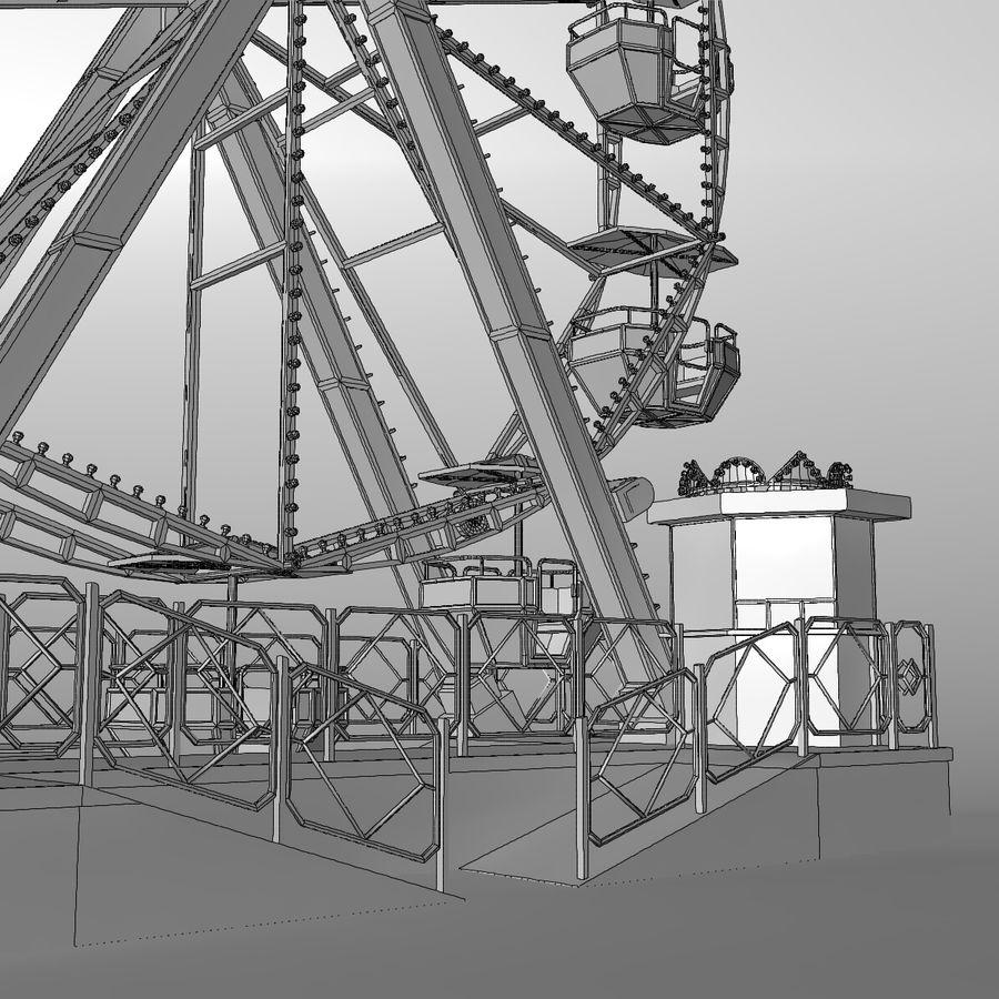 Ferris wheel royalty-free 3d model - Preview no. 18