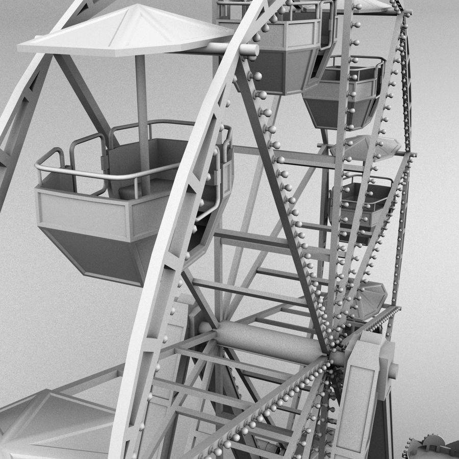 Ferris wheel royalty-free 3d model - Preview no. 10