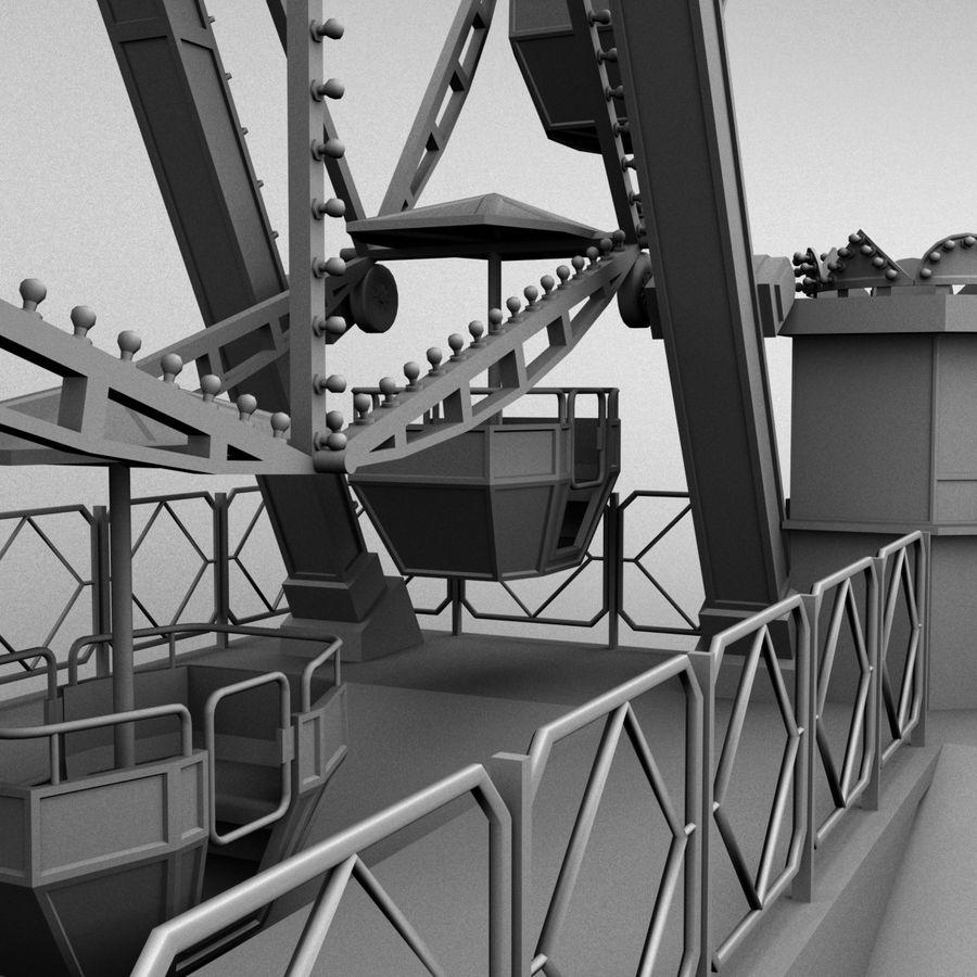 Ferris wheel royalty-free 3d model - Preview no. 15