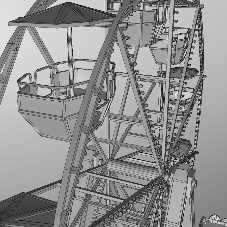 Ferris wheel royalty-free 3d model - Preview no. 20