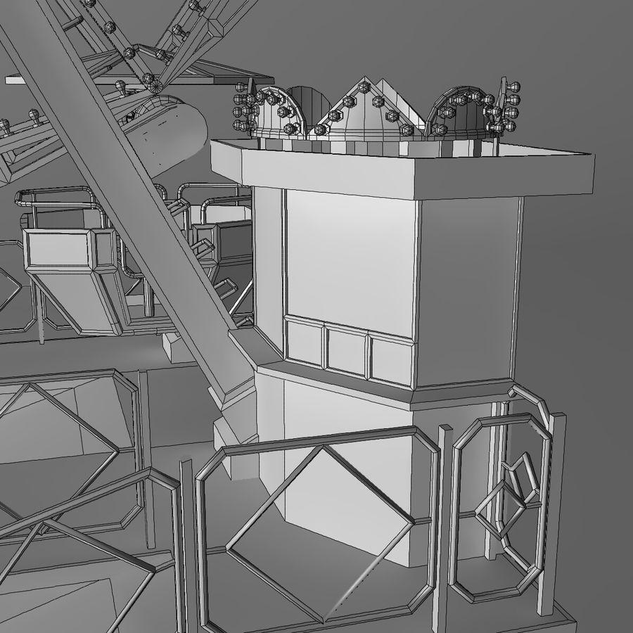 Ferris wheel royalty-free 3d model - Preview no. 22