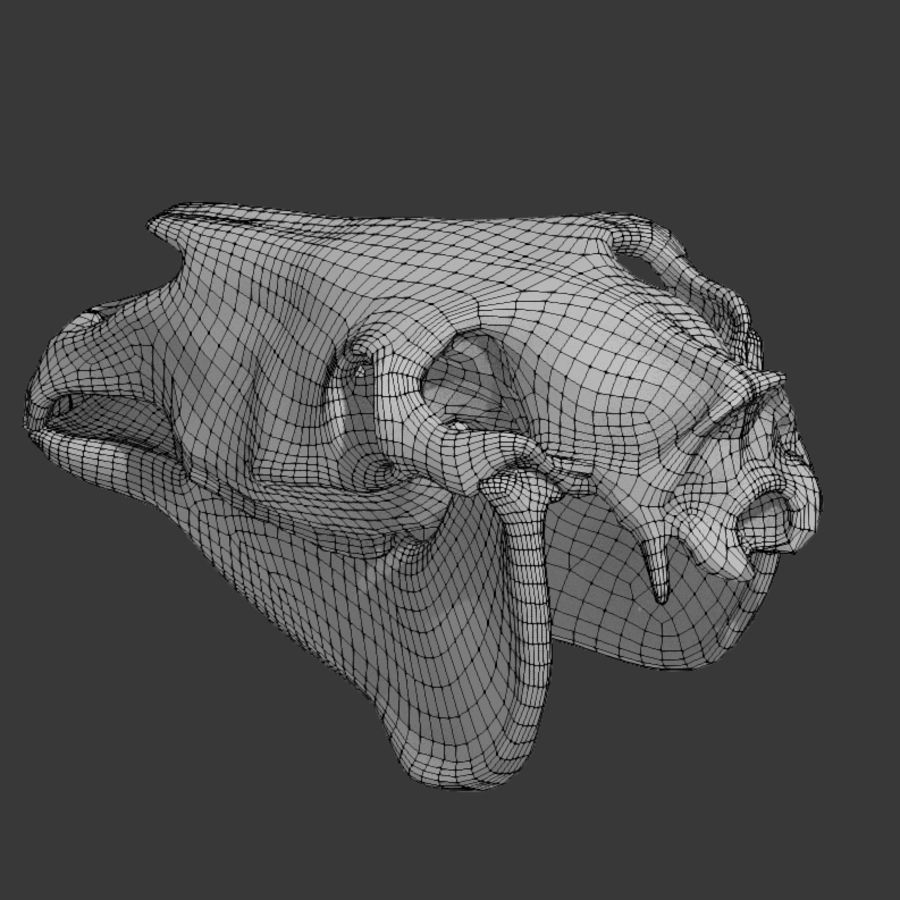 Horse Skull royalty-free 3d model - Preview no. 14