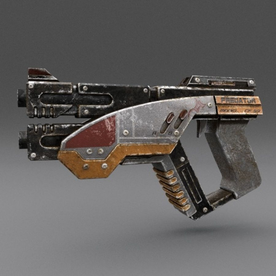 Scifi Gun 02 royalty-free 3d model - Preview no. 1