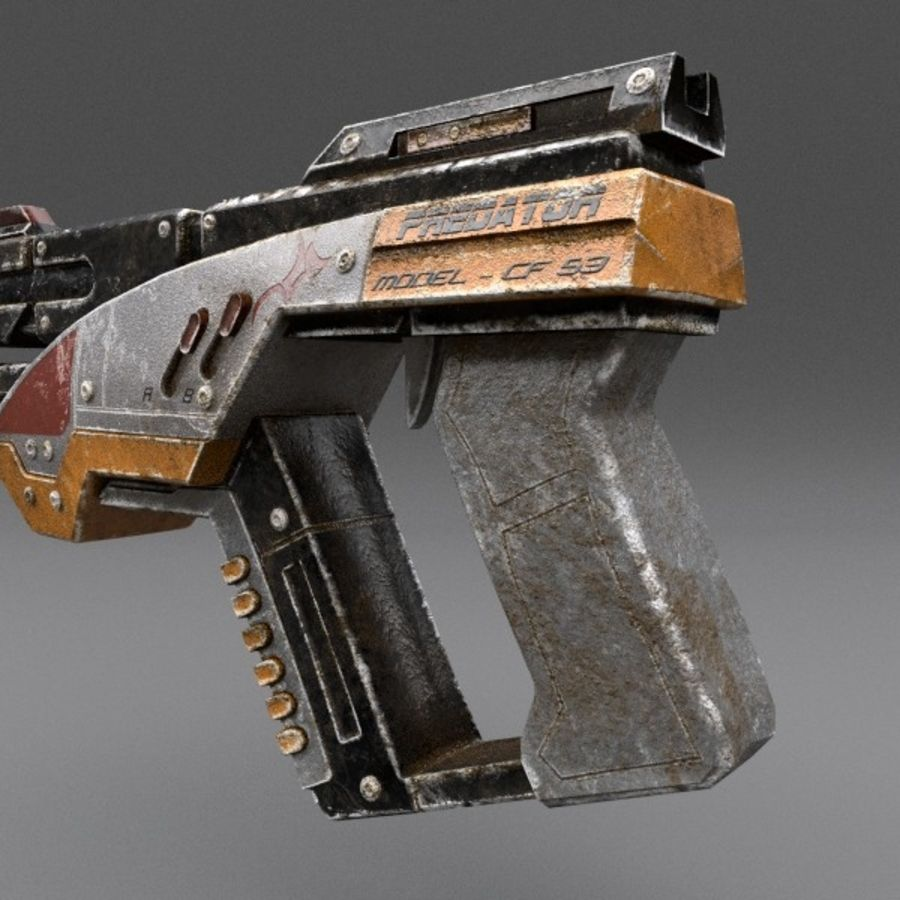Scifi Gun 02 royalty-free 3d model - Preview no. 9