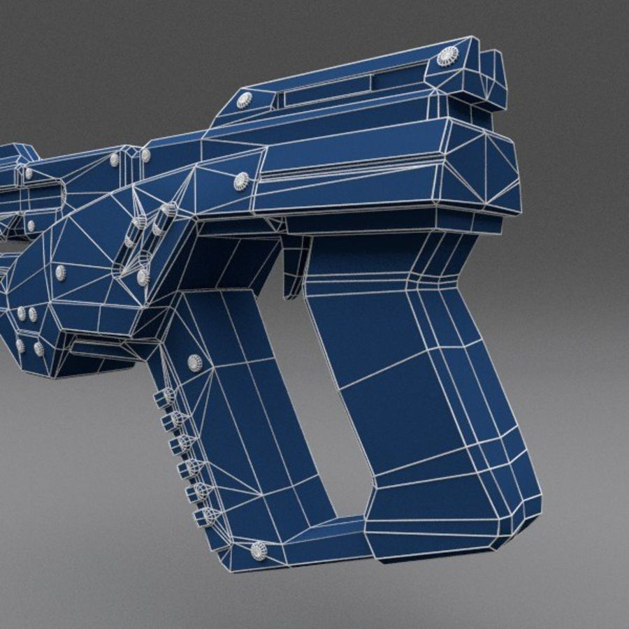 Scifi Gun 02 royalty-free 3d model - Preview no. 10